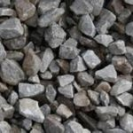 close up of crushed stone