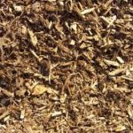 close up of mixed wood chips