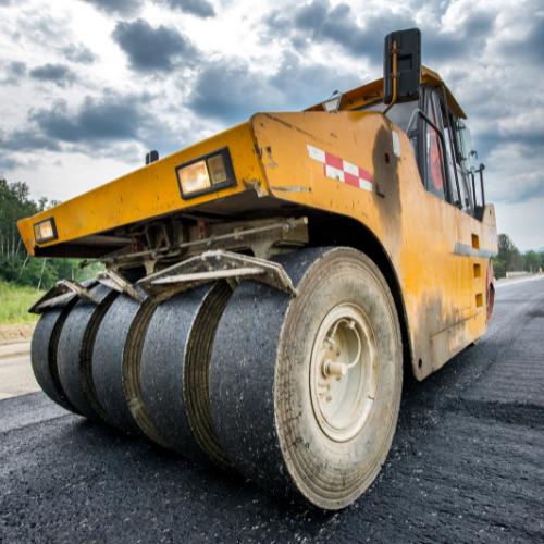 road building roller